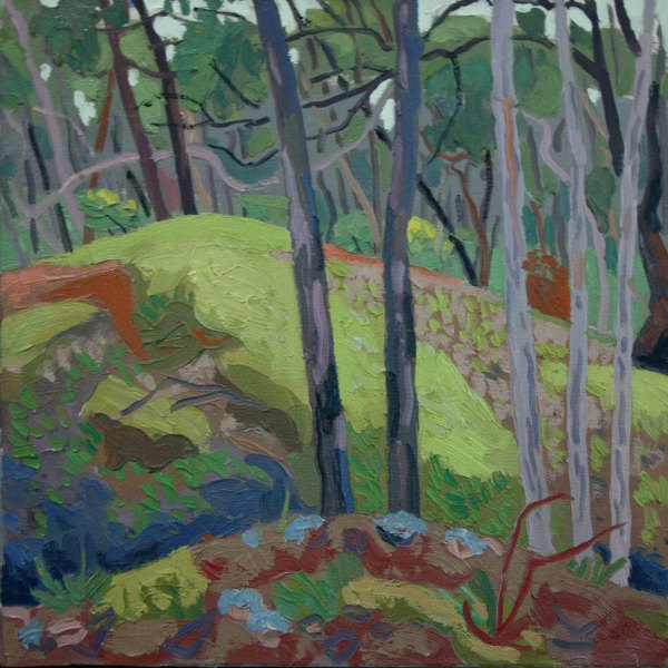 Painting by Mark Dober 'Forest, (gold diggings'