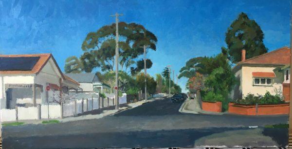 Painting by Alexandra Sasse. 'Peel St, Kew'