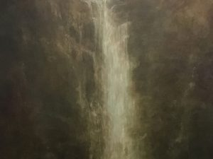 Oil painting by Linda Gibbs 'Untitled (waterfall)'