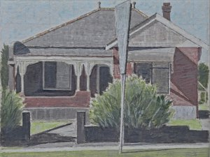 Hendrik Kolenberg painting 'Old house, Blaxland Road, Eastwood'