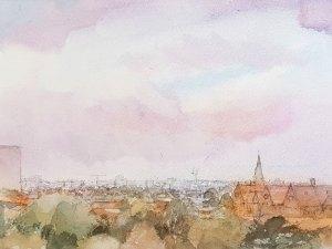 Watercolour painting by Alexandra Sasse 'Abbotsford'