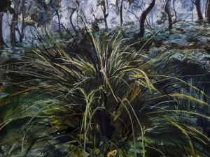 Watercolour painting 'Grass bend to unknowing' Phillip Edwards. 2021