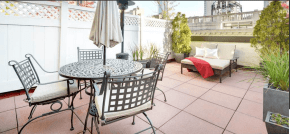 beautiful terrace with empire state building views