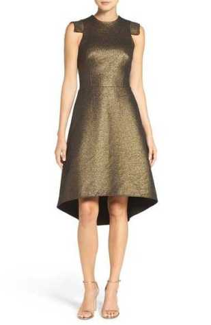metallic-jacquard-dress