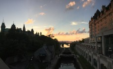 Sunset looking down the locks in Ottawa. Traditional unceded territory of the Algonquin Anishnaabeg people.