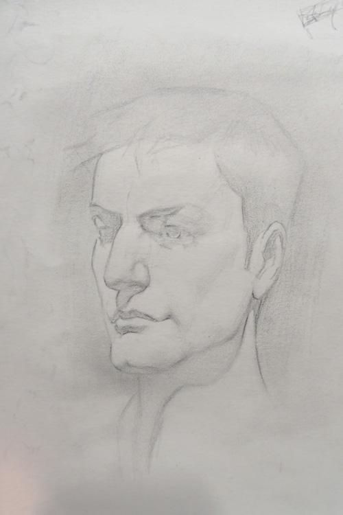 Pose rápida - retrato 2 - grafite