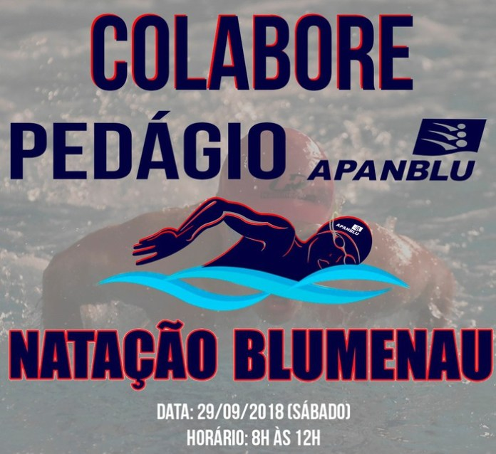 Equipe da natação de Blumenau realiza pedágio beneficente no sábado
