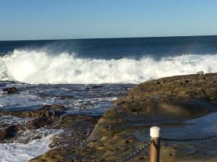 Where surfers swim in.