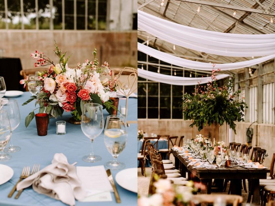 greenhouse wedding reception at dos pueblos orchid farm