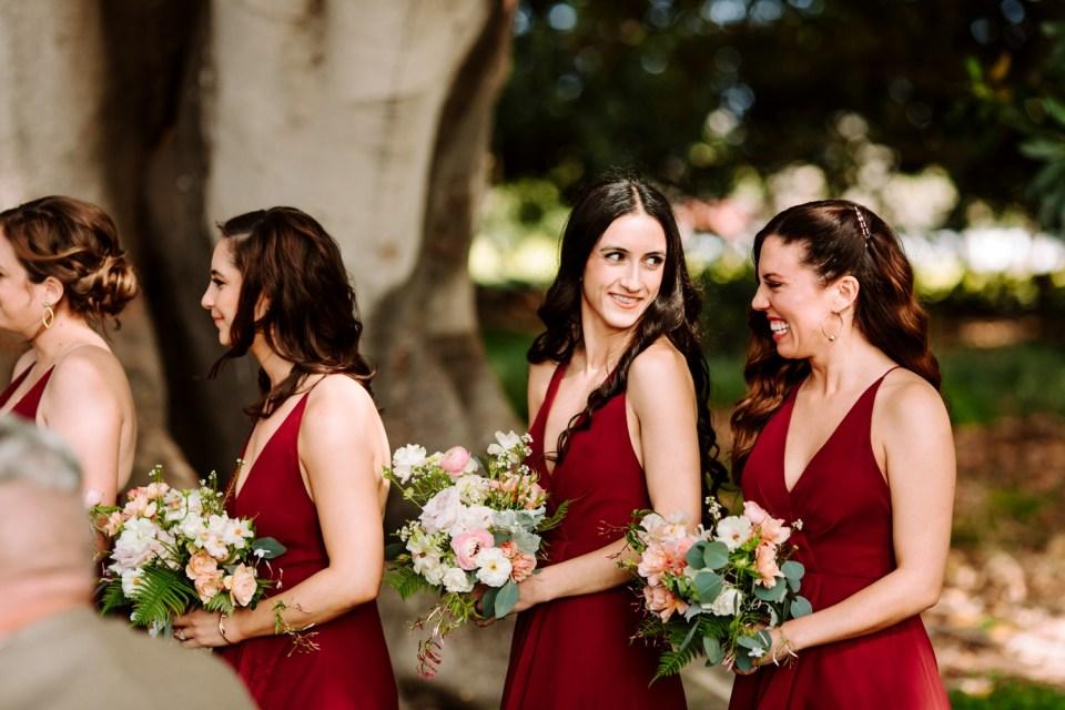 wedding ceremony at dos pueblos orchid farm