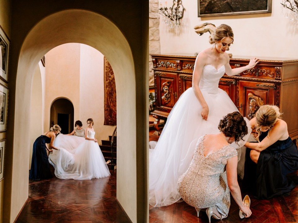 European style California wedding venue