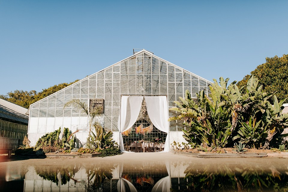 Reception Details for Goleta Wedding at Dos Pueblos Orchid Farm