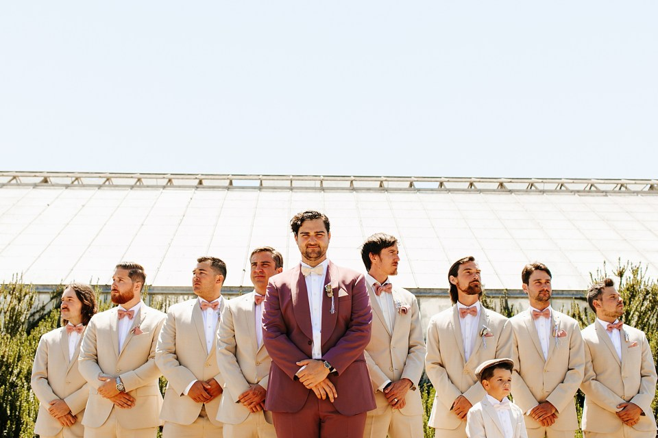 Wedding Party for Goleta Wedding at Dos Pueblos Orchid Farm