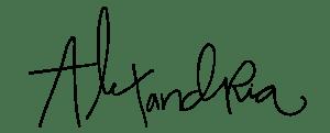 alexandria signature