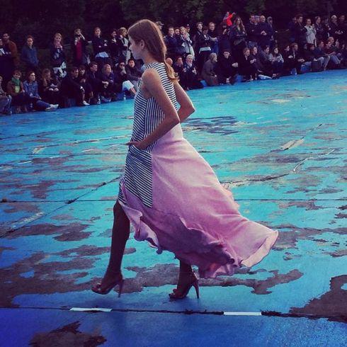 Still thinking about that dress... #mbfwb #perretschaad