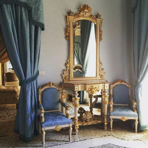 Blue Room aka my living room last weekend in Italy. #villamonaciano #italy #tuscany #romantic