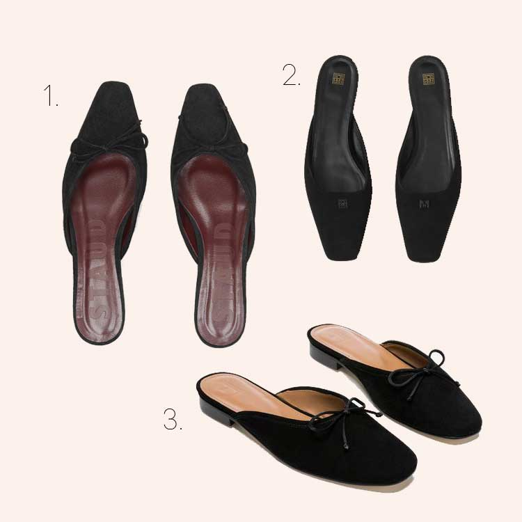 Was ich jetzt shoppe: Schwarze flache Mules |Anzeige, enthält Affiliate Links