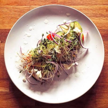 Jon's amazing smoked salmon salad