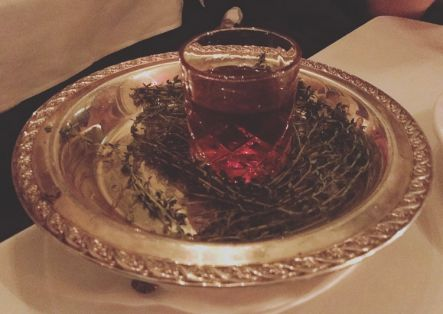 And finally, a smoked Manhattan served to me on yes... a silver platter.