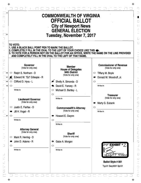 VA ballot