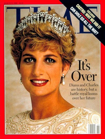 DIana, Time divorce cover