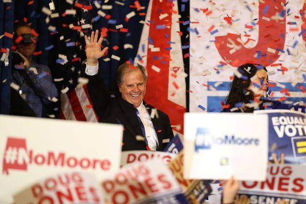 jones victory rally