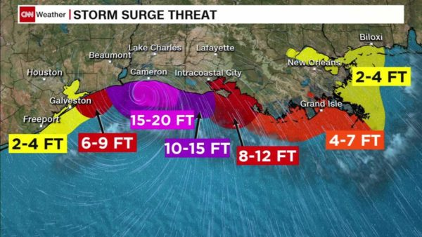laura storm surge