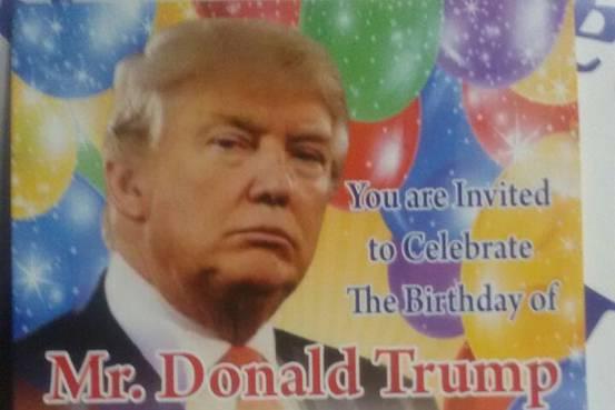 trump bday invite