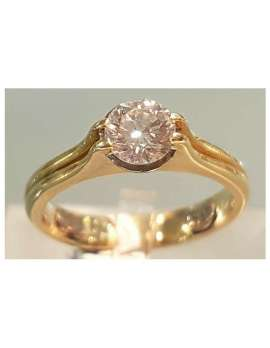 antique gold diamond solitaire ring