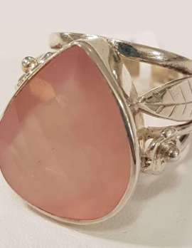 rose-quartz gold ring