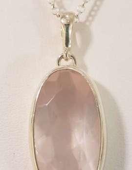 rose-quartz gold drop pendant