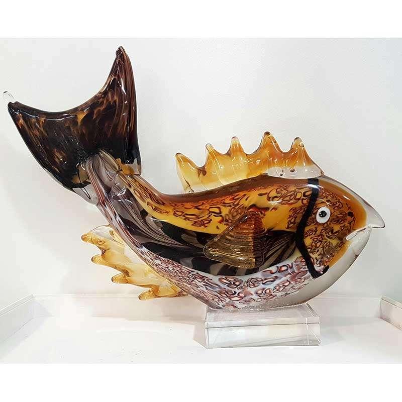 GLASS FISH STATUE