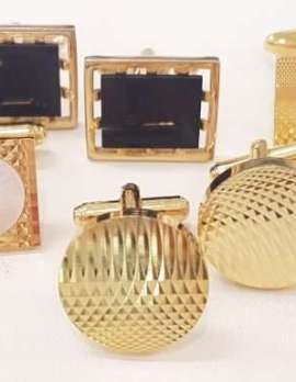 Gold Plated Cufflinks - Assorted