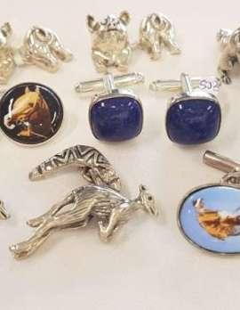 Assorted Sterling Silver Cufflinks