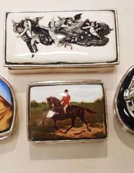 Sterling Silver and Enamel Pillboxes - Assorted - New