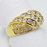 18ct Gold Wide Diamond Ring
