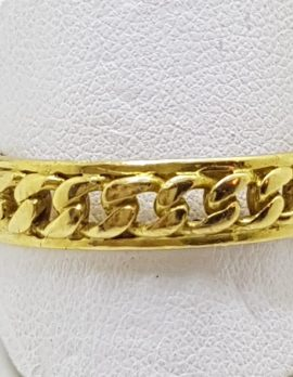 18ct Yellow Gold Patterned Wedding Band Ring