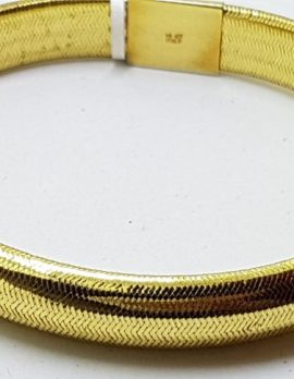 14ct Yellow Gold Weaved Bangle - Wide