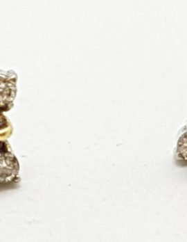 14ct Gold Natural Ruby & Diamond Stud Earrings