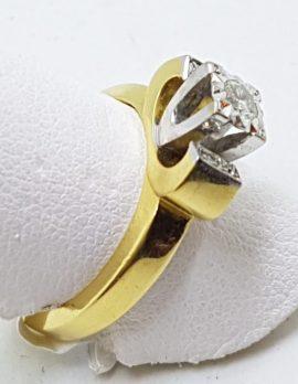 18ct Yellow Gold & Platinum Diamond Engagement Ring