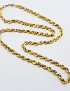 9ct Gold Singapore / Rope Twist Chain Necklace