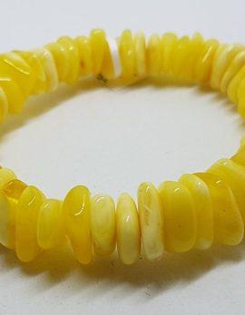 Natural Butter Amber Bead Bracelet