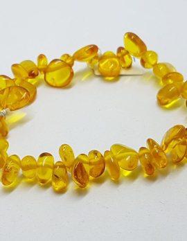 Natural Amber Dainty Bead Bracelet