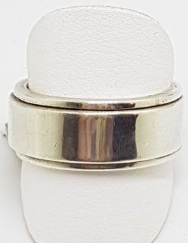 Sterling Silver Heavy Spinner Band Ring