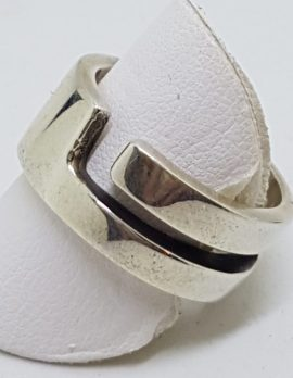 Sterling Silver Heavy Open Design Band Ring