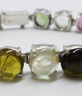 Sterling Silver Multi-Coloured Tourmaline Bracelet