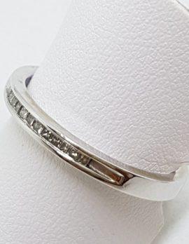 9ct White Gold Channel Set Diamond Eternity/Wedding Ring