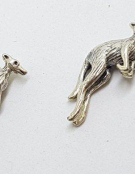 Sterling Silver Kangaroo & Boomerang Cufflinks