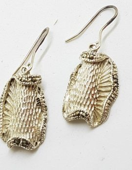 Sterling Silver Marcasite Drop Earrings