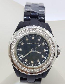 Pierre Cardin Watch - Black and Swarovski Crystal
